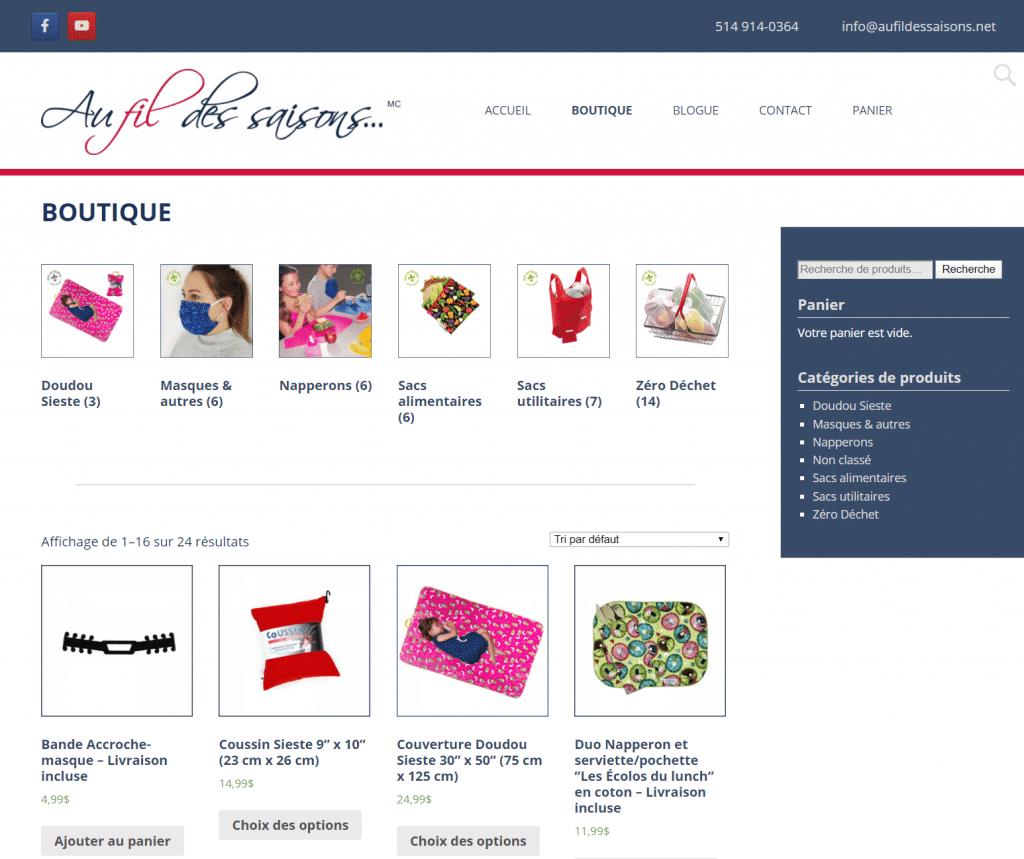 Au fil des saisons (boutique en ligne) 11
