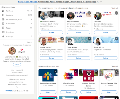Gestion de profil Linkedin - acquisition lead btob 2